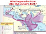 what happened to islam after muhammad s death