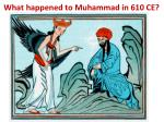 what happened to muhammad in 610 ce