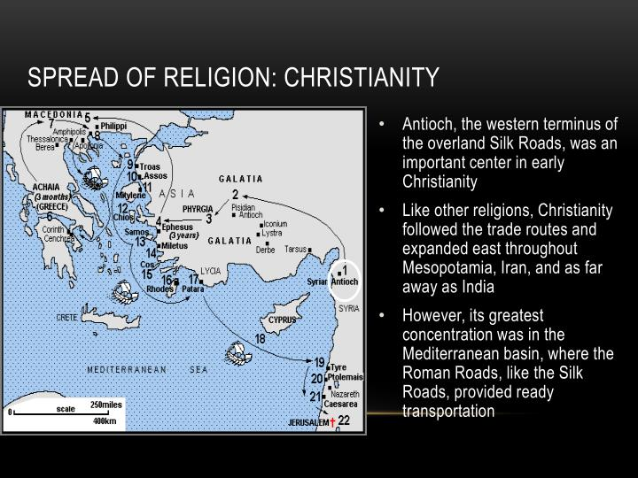 Spread of Religion: Christianity