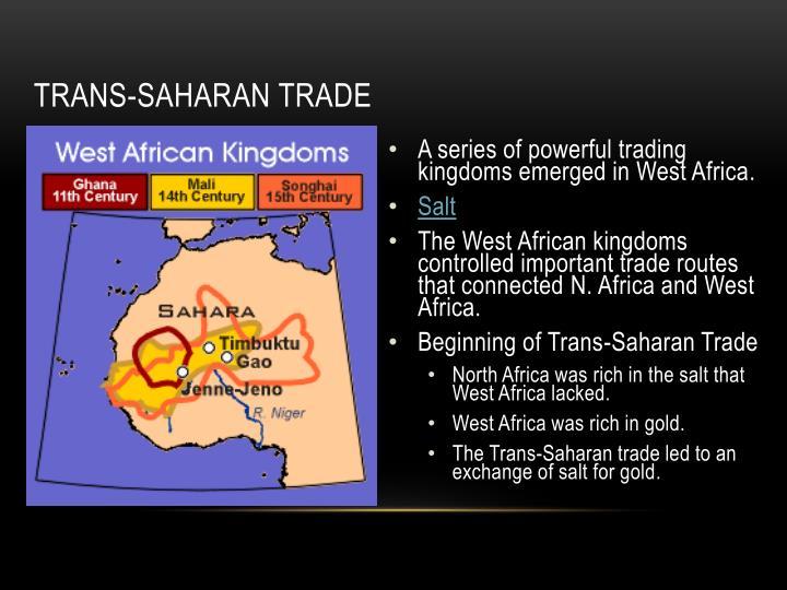 Trans-Saharan Trade