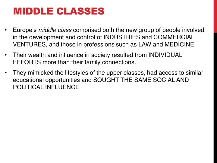 Middle classes