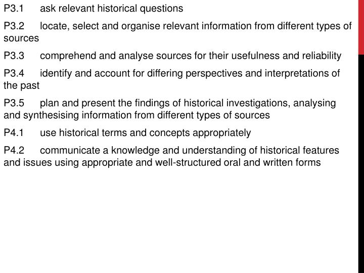 P3.1	ask relevant historical questions
