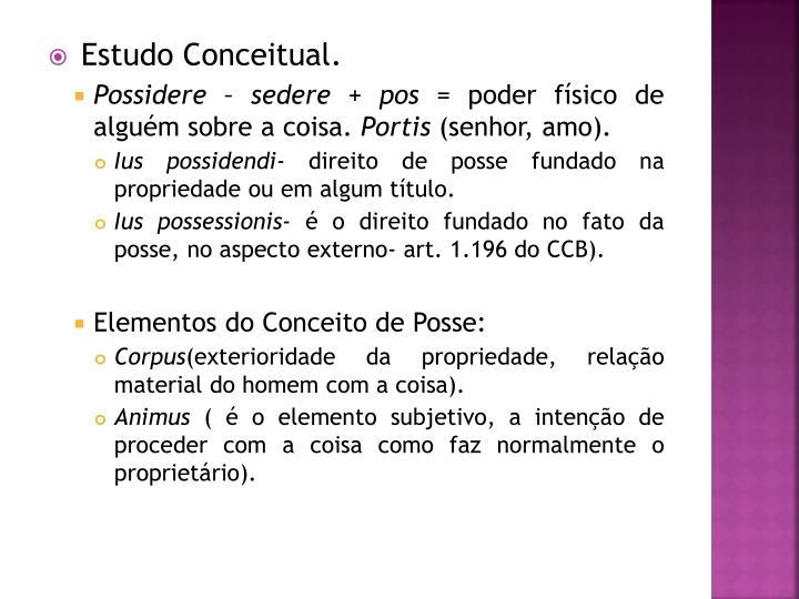 Estudo Conceitual.