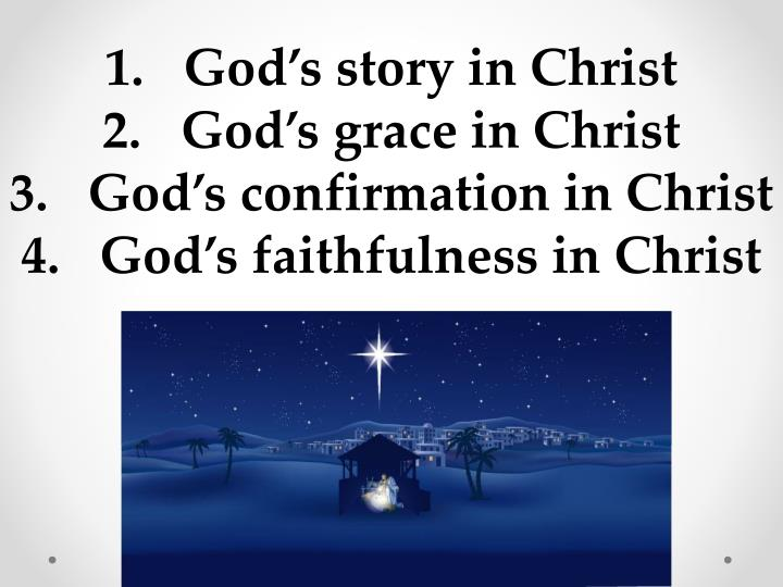 God's story in Christ