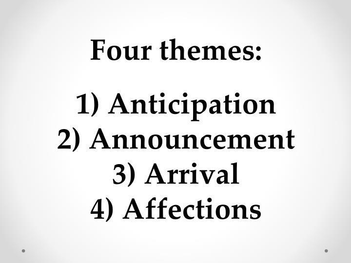 Four themes: