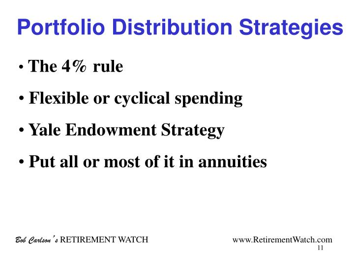 Portfolio Distribution Strategies