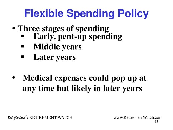 Flexible Spending Policy