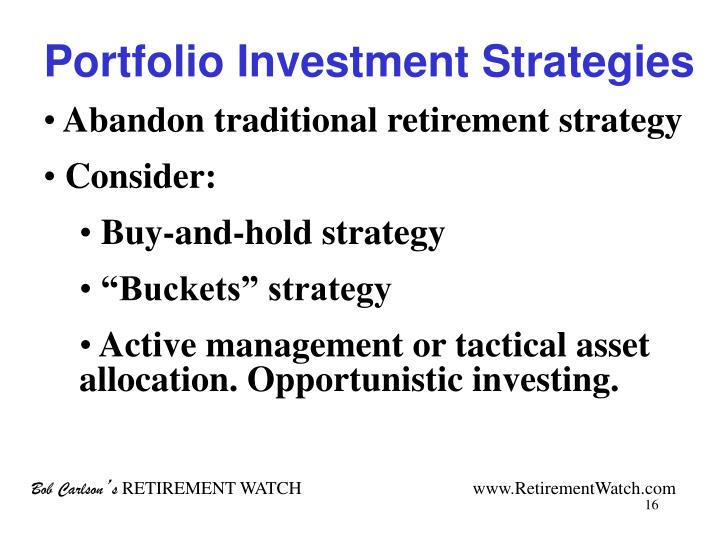 Portfolio Investment Strategies