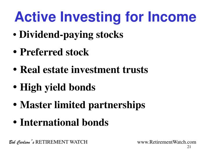 Active Investing for Income