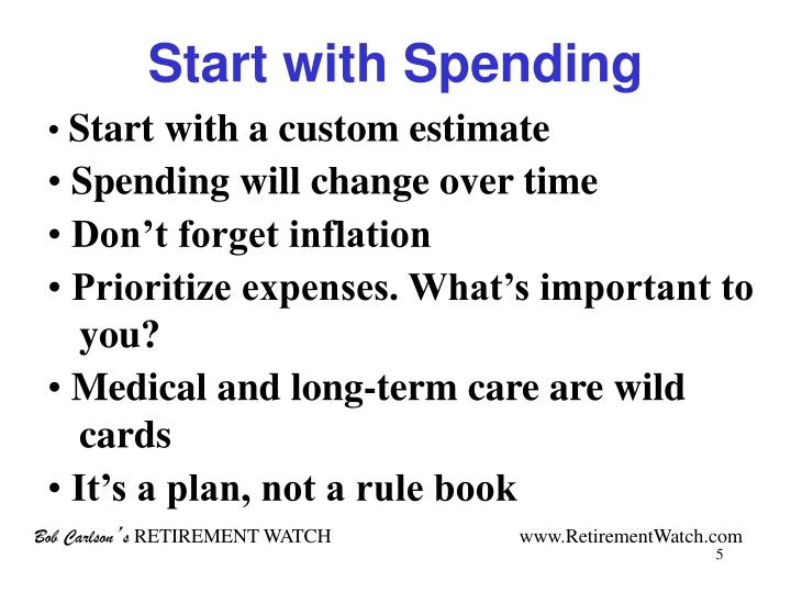 Start with Spending