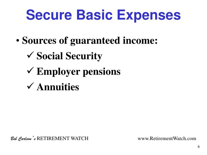 Secure Basic Expenses