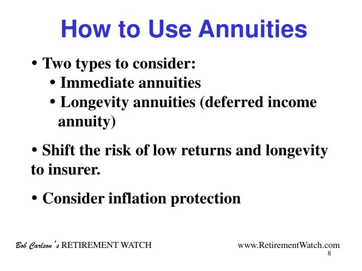 How to Use Annuities