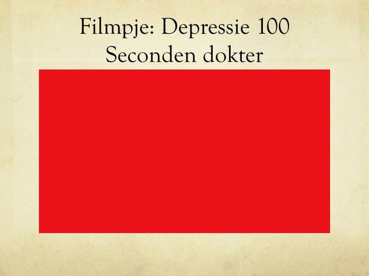 Filmpje: Depressie 100 Seconden dokter