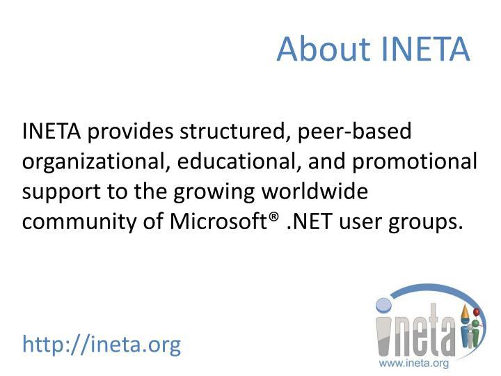 About INETA