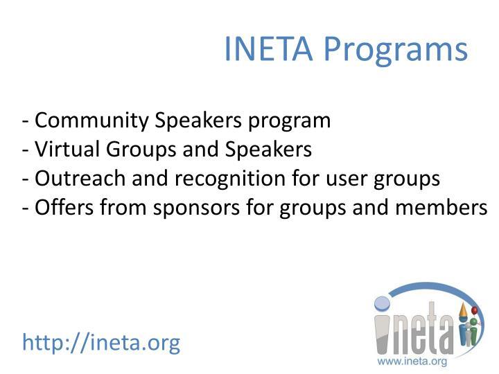 INETA Programs