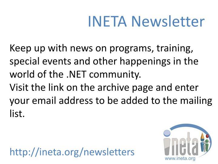 INETA Newsletter