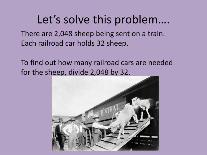 Let's solve this problem….