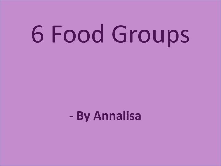 6 food groups