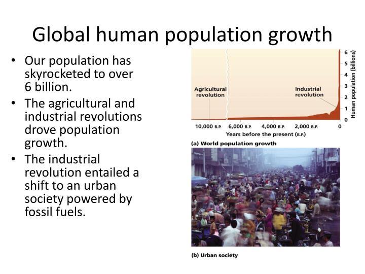 Global human population growth