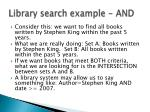 library search example and