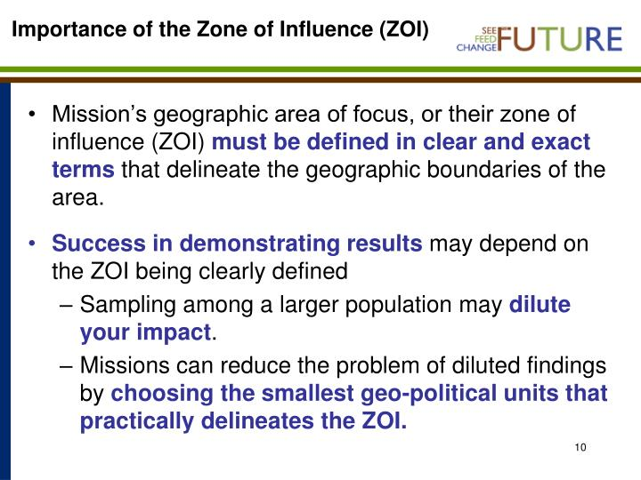 Importance of the Zone of Influence (ZOI)