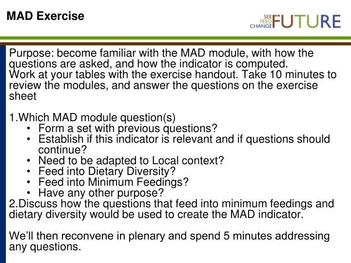MAD Exercise