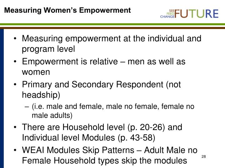 Measuring Women's Empowerment