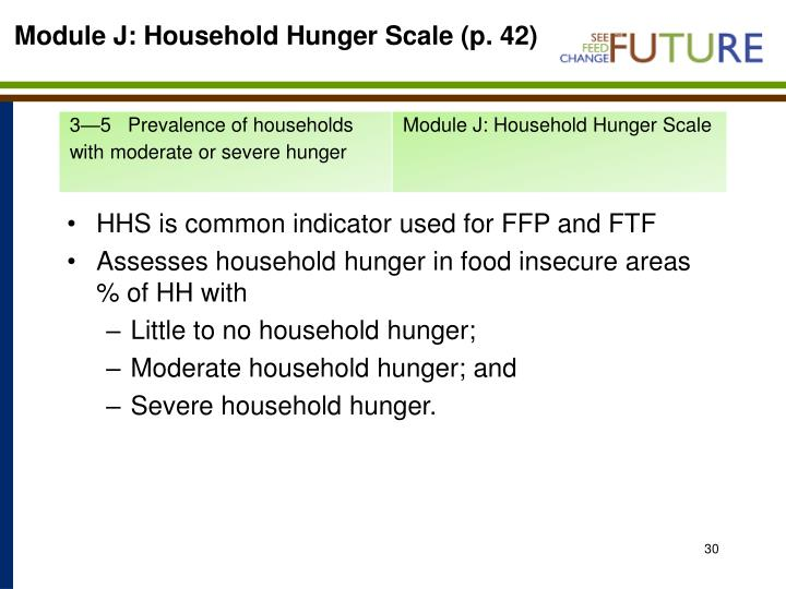 Module J: Household Hunger Scale (p. 42)