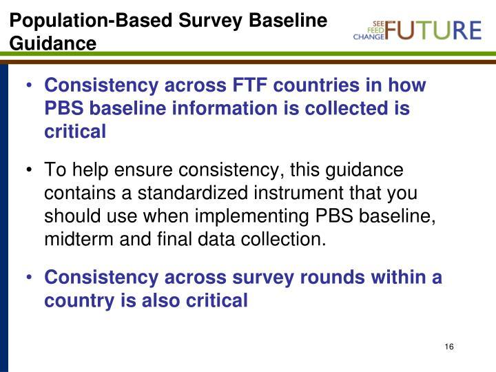 Population-Based Survey Baseline
