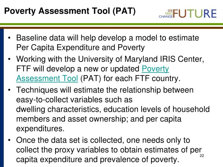Poverty Assessment Tool (PAT)