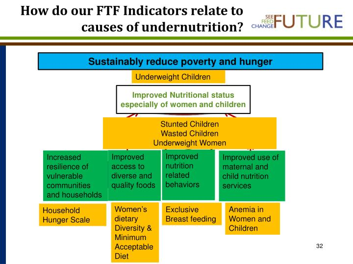 How do our FTF Indicators relate to causes of undernutrition?