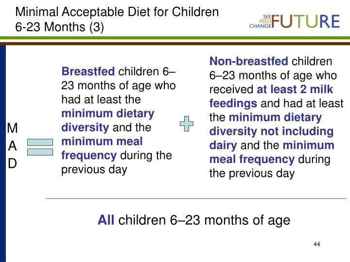 Minimal Acceptable Diet for Children 6-23 Months (3)