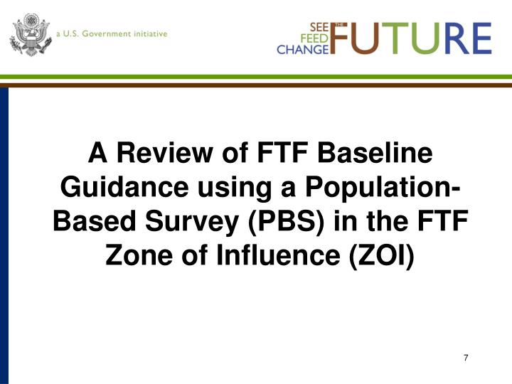 A Review of FTF Baseline Guidance using a Population-Based Survey