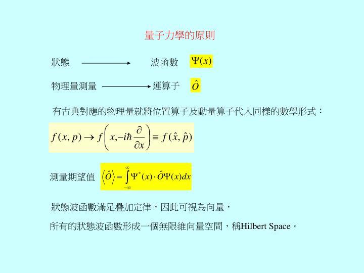 量子力學的原則