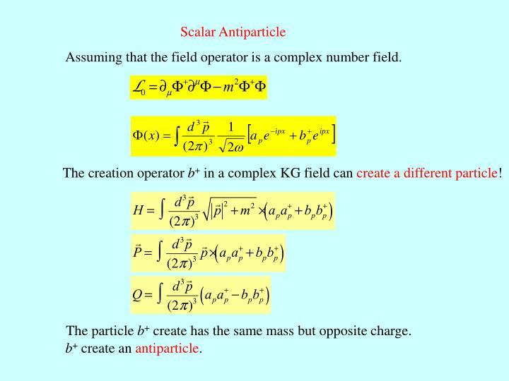Scalar Antiparticle