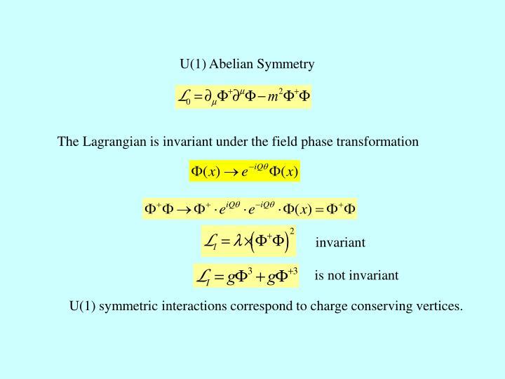 U(1) Abelian Symmetry