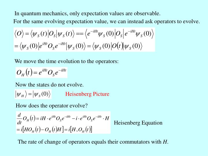In quantum mechanics, only expectation