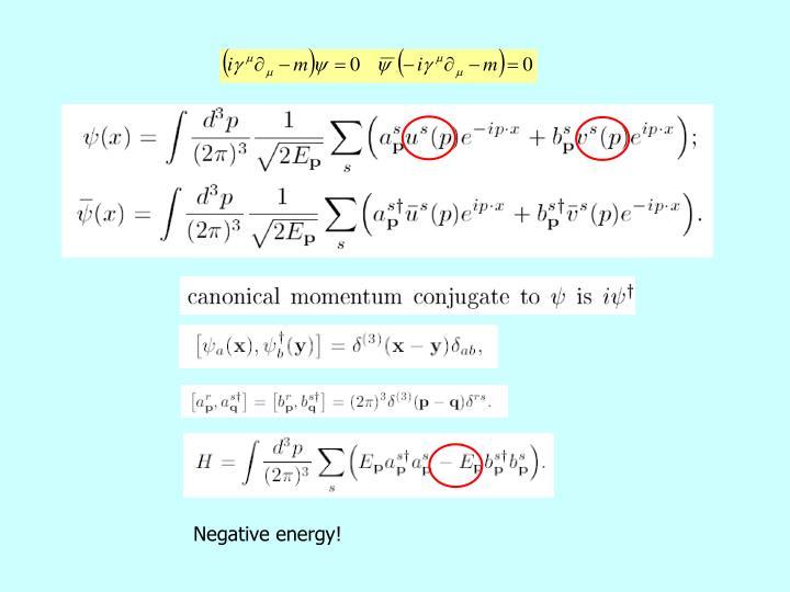Negative energy!