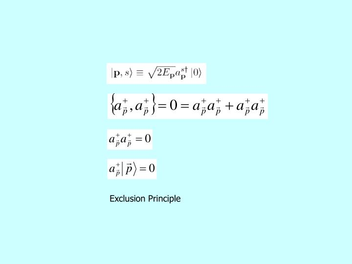 Exclusion Principle