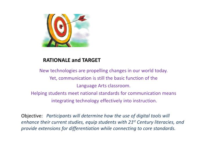 RATIONALE and TARGET