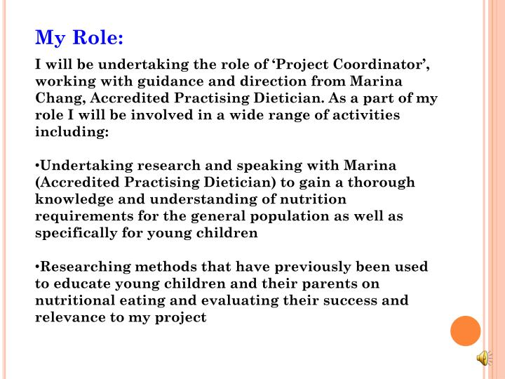 My Role: