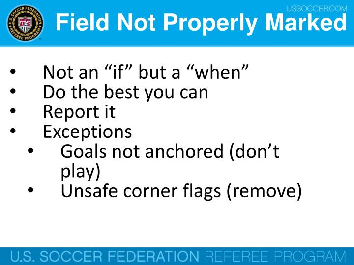 Field Not Properly Marked
