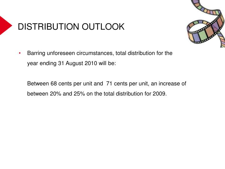 DISTRIBUTION OUTLOOK