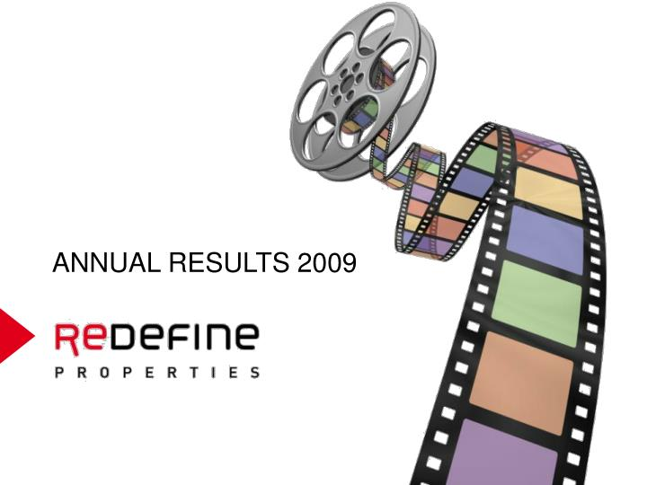 ANNUAL RESULTS 2009