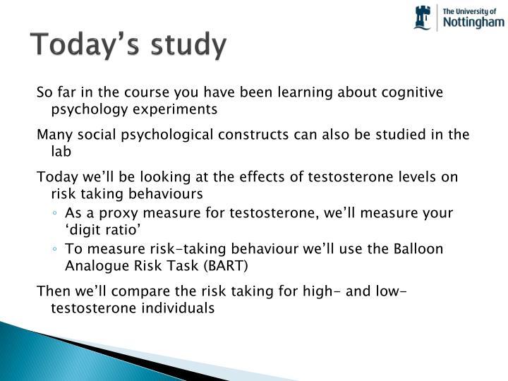 Today's study