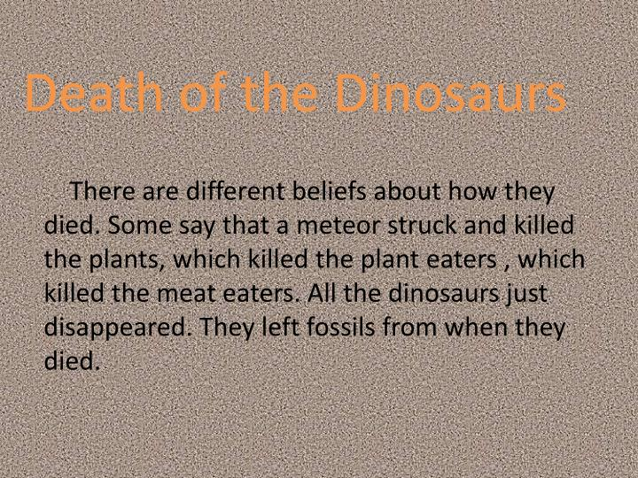 Death of the Dinosaurs