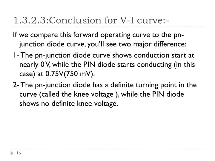 1.3.2.3:Conclusion for V-I curve:-