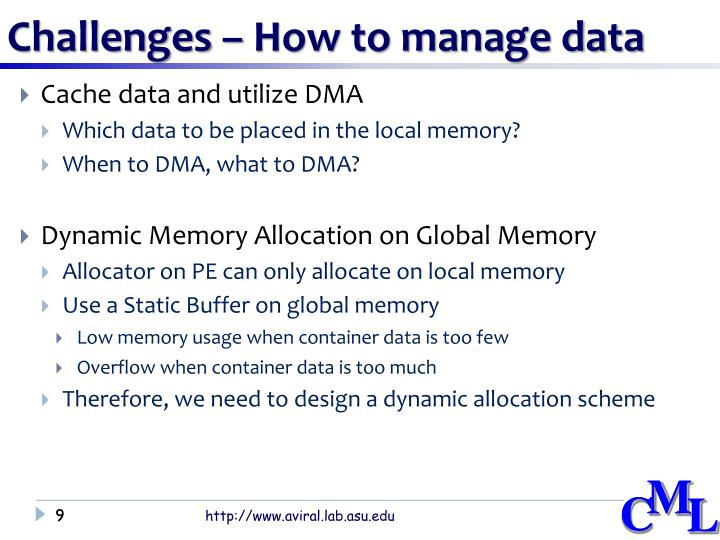 Challenges – How to manage data