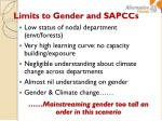 limits to gender and sapccs
