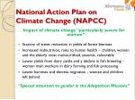 national action plan on climate change napcc